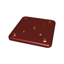 100 x 100mm Base Plate - Manor Red