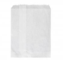 1F Flat Paper Bag White