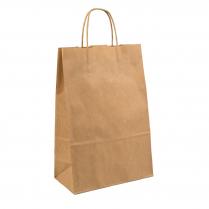 Medium Twist Handle Paper Carry Bag Brown