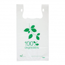 Large Degradable Plastic Carry Bag White