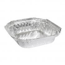 270mL Takeaway Small Shallow Foil Tray Square