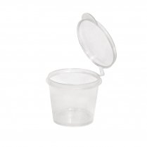 1oz/35mL Small Plastic Hinged Lid Portion Cup