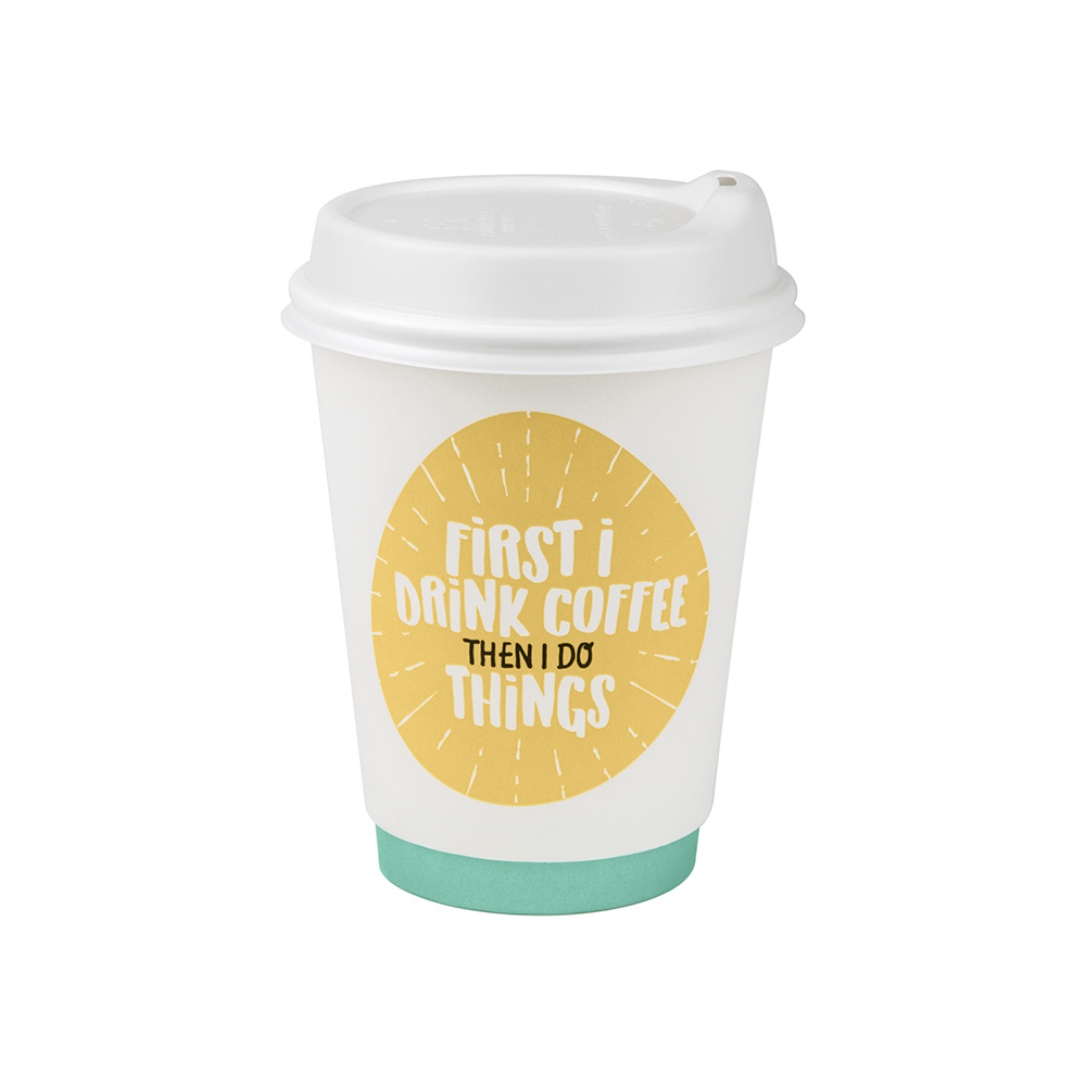 12oz/365mL Regular Double Wall Coffee Cup Quotes