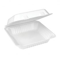"""9x9"""" Compostable Dinner Clamshell Bagasse"""