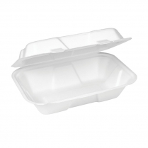 """9x6"""" Compostable Snack Box Clamshell Bagasse"""