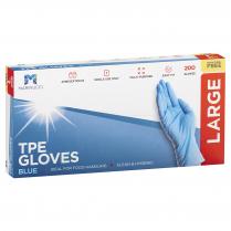 Large TPE Powder Free Glove Blue