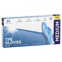 Medium TPE Powder Free Glove Blue