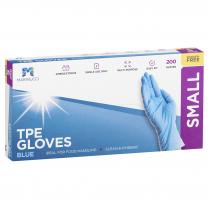 Small TPE Powder Free Glove Blue