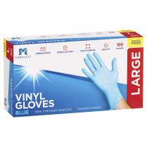 Large Vinyl Powder Free Glove Blue