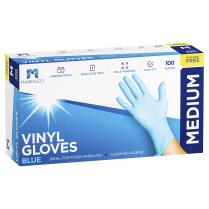 Medium Vinyl Powder Free Glove Blue