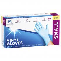 Small Vinyl Powder Free Glove Blue