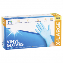 Extra Large Vinyl Powder Free Glove Blue