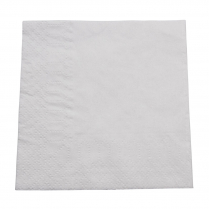 2ply Cocktail Paper Napkin White