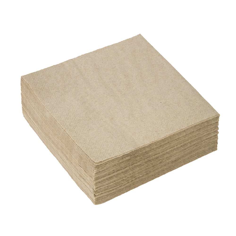 2ply Cocktail Paper Napkin Brown