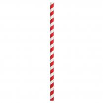 8mm Jumbo Paper Straw Red & White Stripe