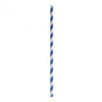 Regular Paper Straw Blue & White Stripe