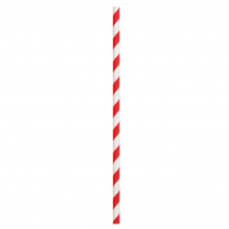 Regular Paper Straw Red & White Stripe