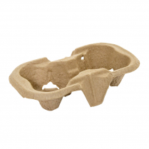 2 Cup Compostable Drink Tray
