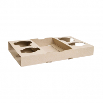 4 Cup Drink & Food Carry Tray
