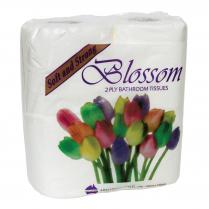 2ply Blossom Deluxe Toilet Paper 4 Pack Bulk