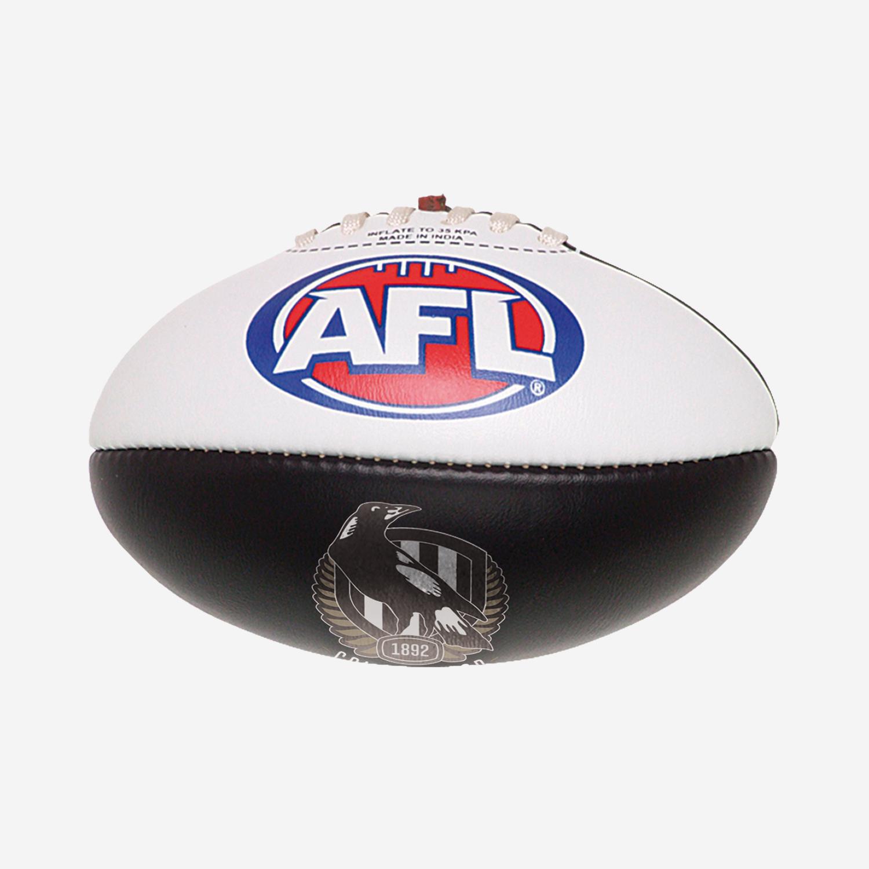 COLLINGWOOD MAGPIES AFL PVC CLUB FOOTBALL 16CM