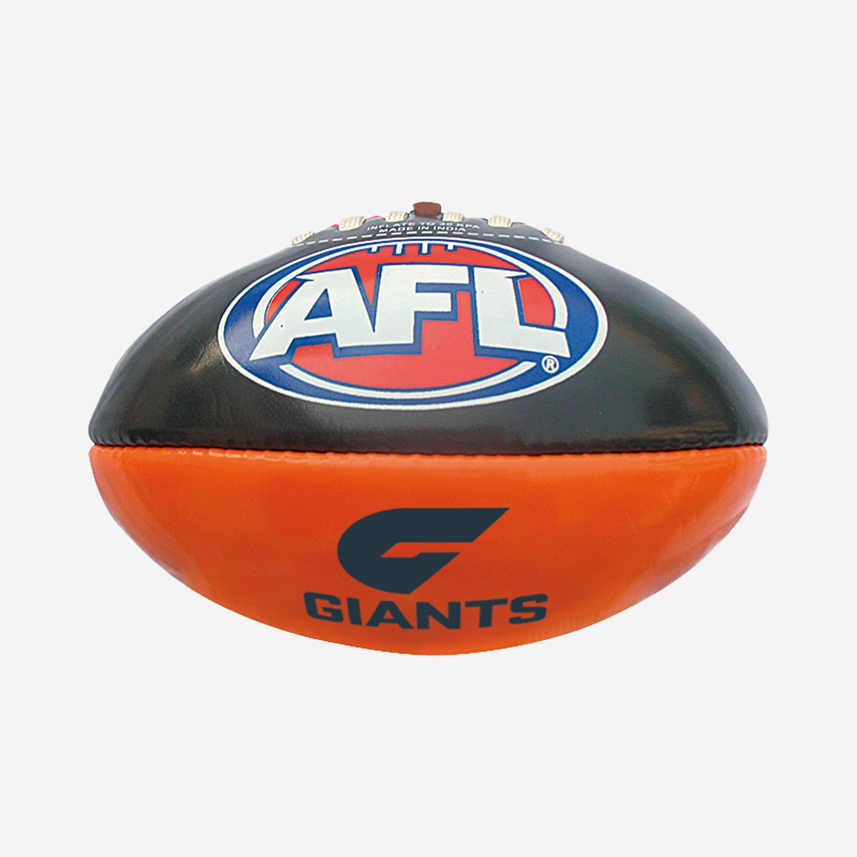GWS AFL PVC CLUB FOOTBALL 16CM
