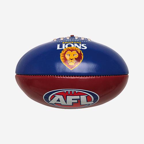 BRISBANE LIONS AFL PVC CLUB FOOTBALL 20CM