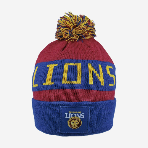 BRISBANE LIONS AFL BAR BEANIE
