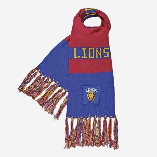 BRISBANE LIONS AFL BAR SCARF