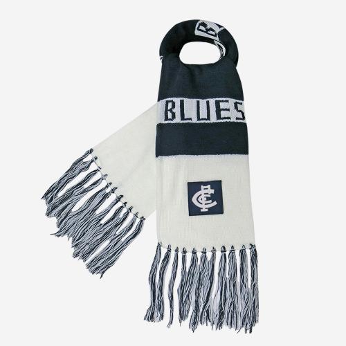 CARLTON BLUES AFL BAR SCARF