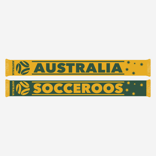 Socceroos Banner Jacquard Scarf