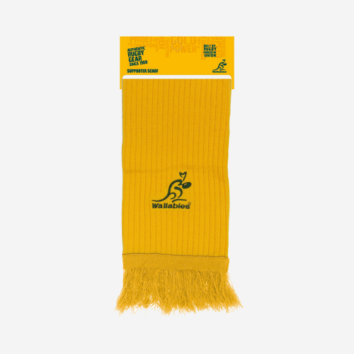 Wallabies Gold Embroidered Scarf