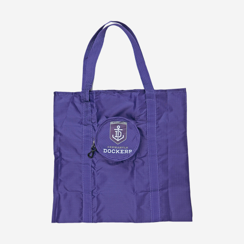 FREMANTLE DOCKERS AFL FOLDABLE TOTE BAG