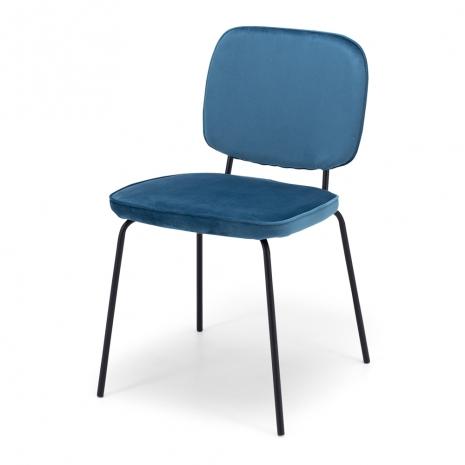 Clyde Dining Chair Ocean Velvet