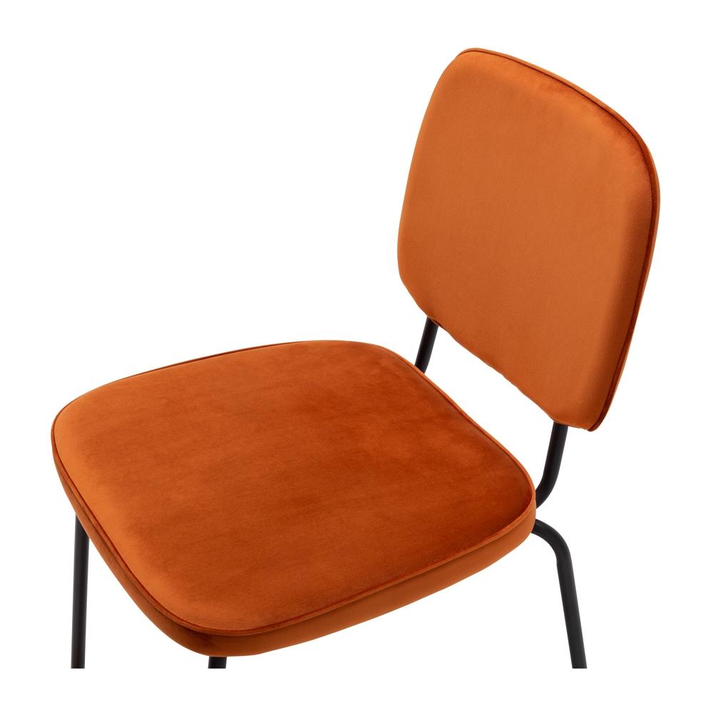 Clyde Dining Chair Burnt Orange Velvet