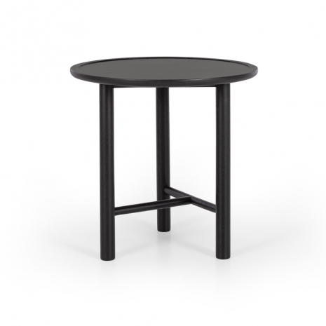 Contempo Black Oak Lamp Table