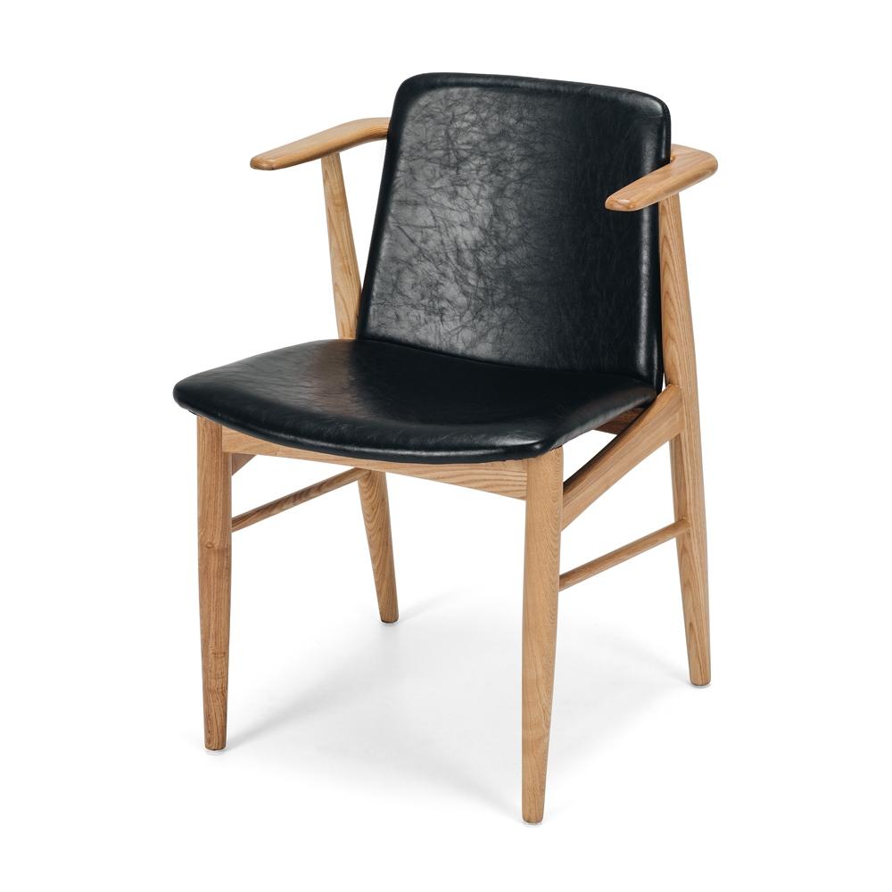 Flores Chair Vintage Black PU