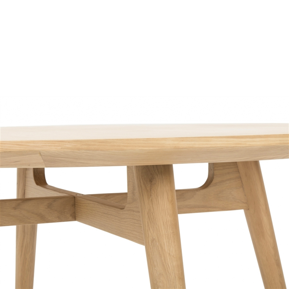 Linea Dining Table 120rd (Natural Oak)