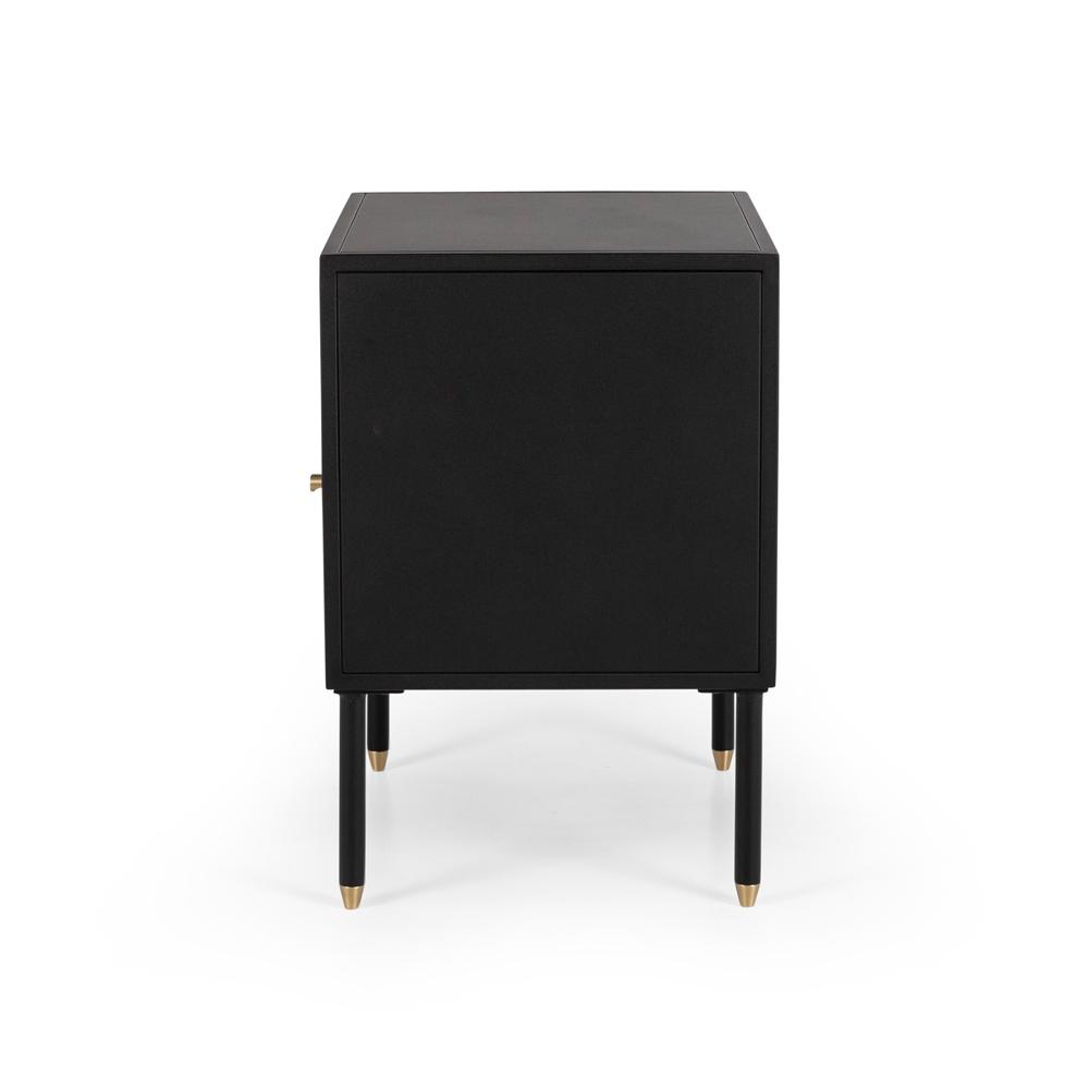 Dawn Bedside (Black) 1 drawer