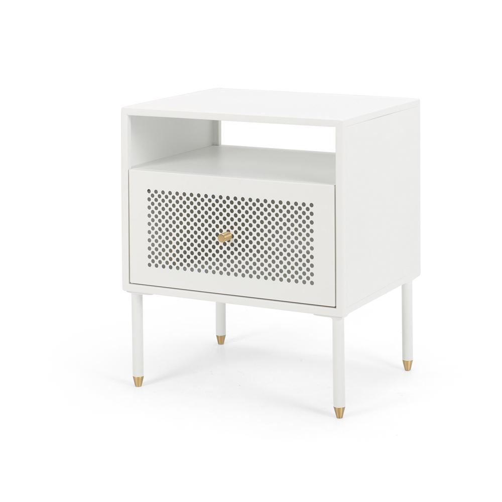 Dawn Bedside (White) 1 drawer
