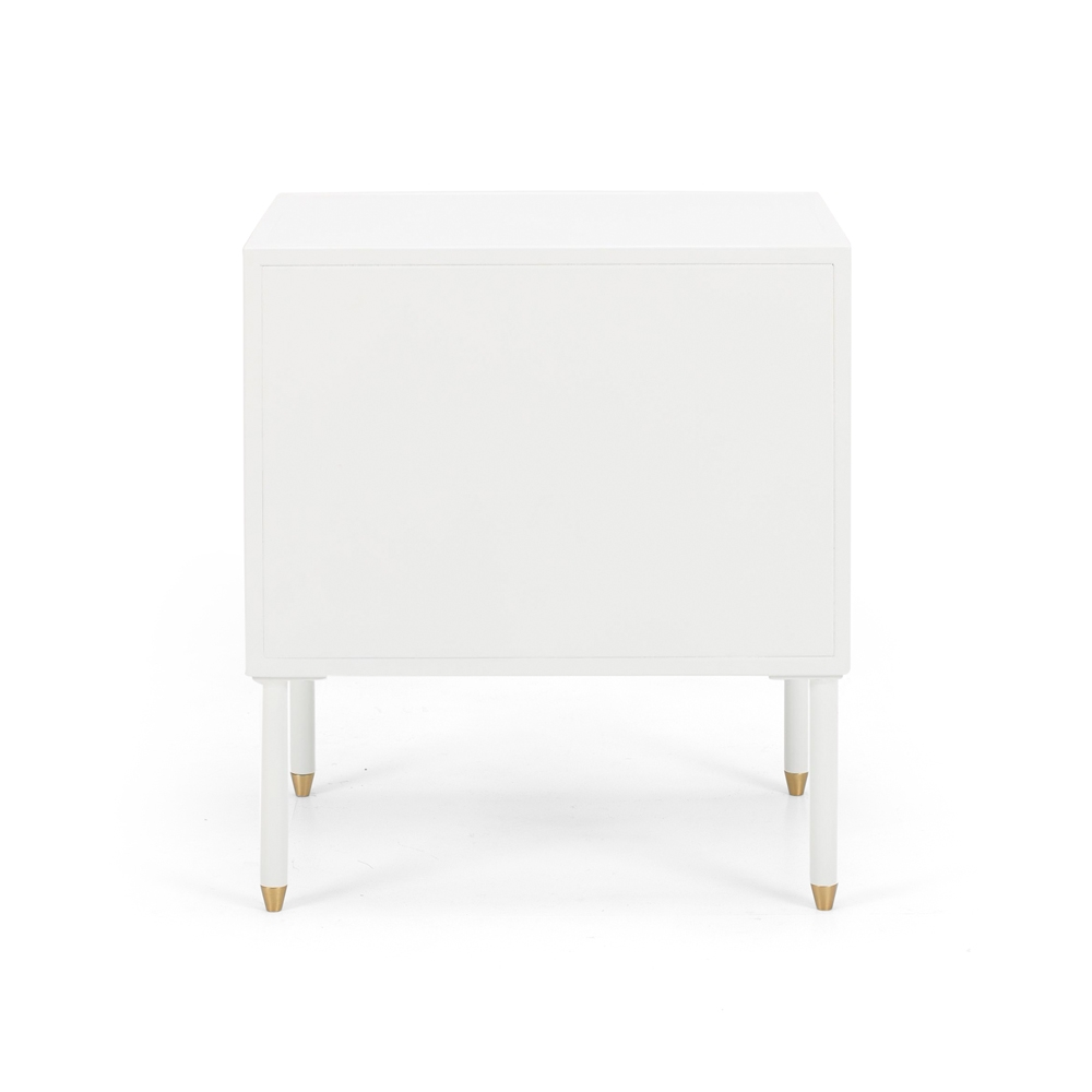 Dawn Bedside (White) right opening