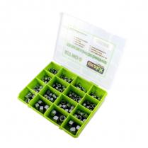 UNC Hex & Nylon Ins Lock Nut Assortment Kit Gr5&8 Zinc