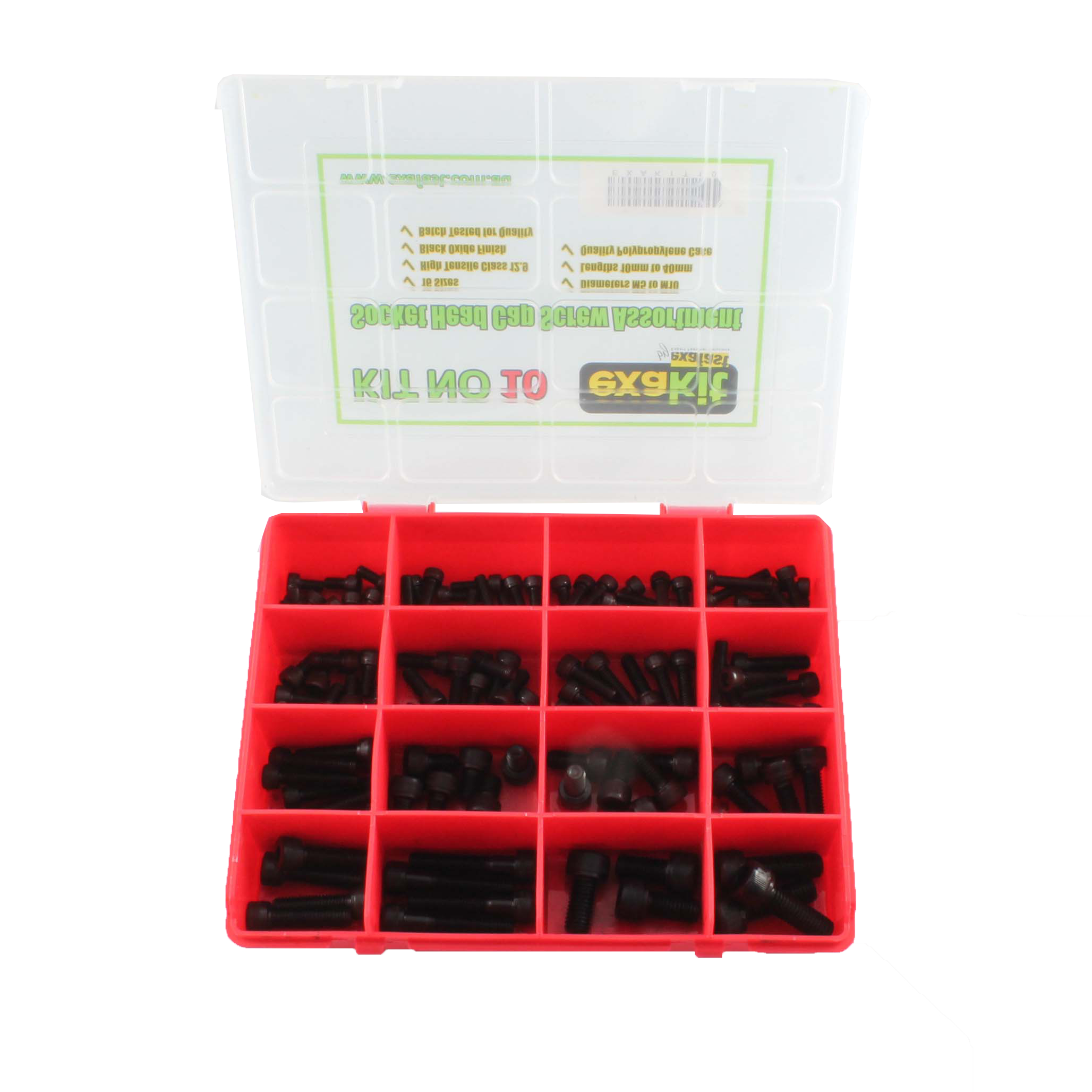 Socket Head Cap Screw Assortment Cl12.9 Black