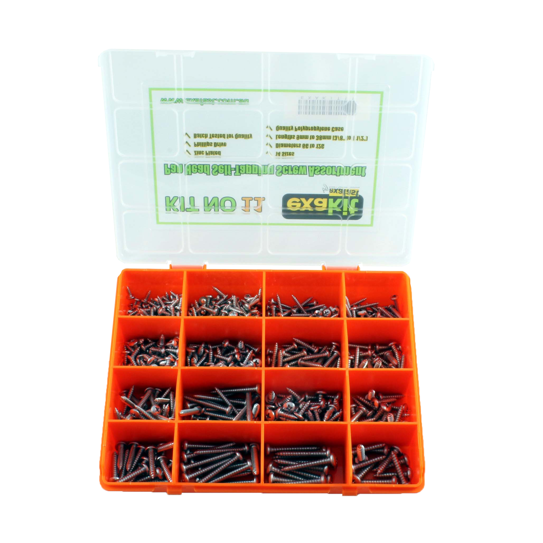 Self Tapping Screw Assortment Pan Phillips Zinc